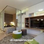 Дизайн квартиры-студии#идея #дизайн #интерьер #ремонт
