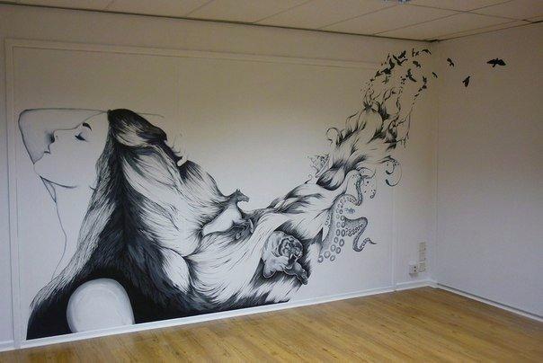Что можно нарисовать на потолке своими руками