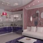 Интерьер кухни и гостиной для